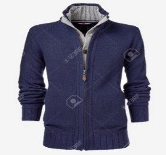 mens jacket isolated on a white background. with an alpha channel
